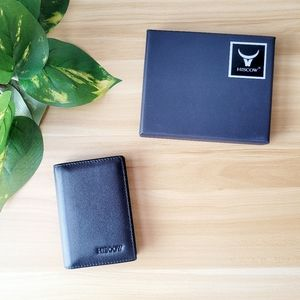 Genuine leather card holder men women elegant NEW